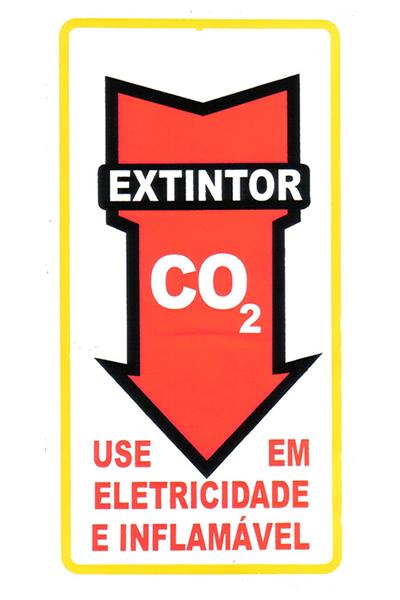 Adesivo Seta  extintor CO2