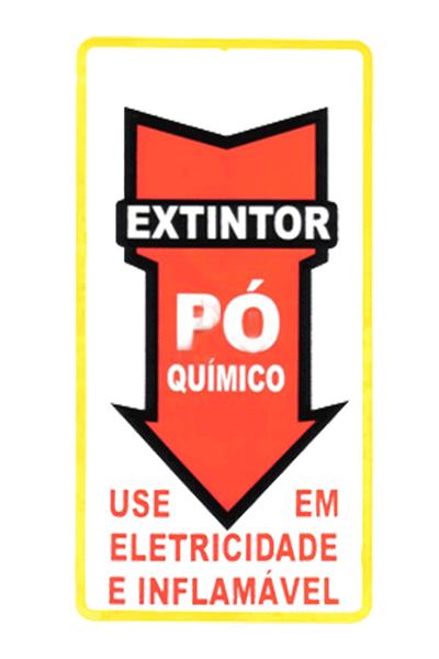 Adesivo Seta extintor PQS